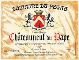 Chateauneuf du Pape Wine Label