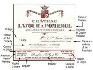 French wine Label Key